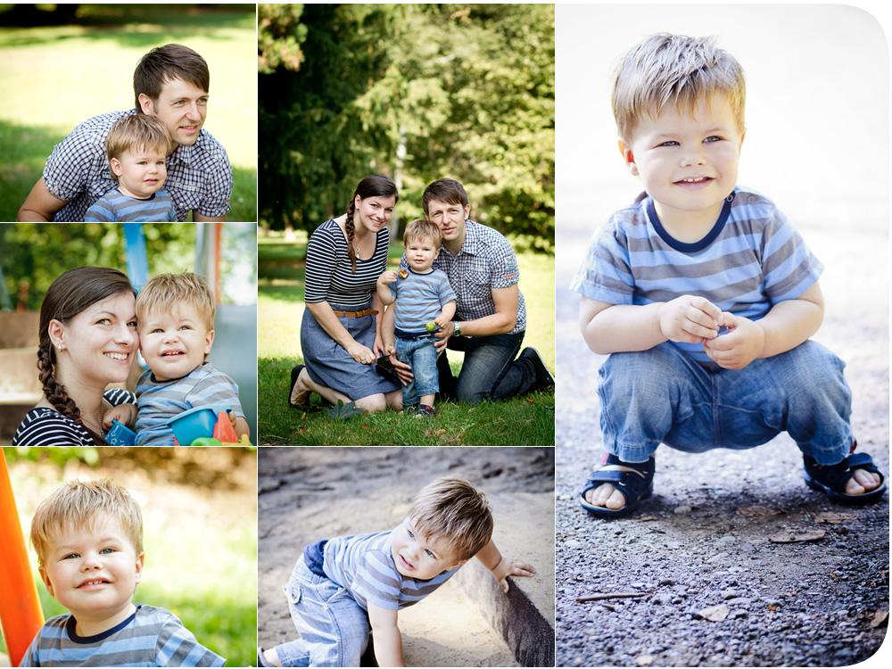 Fotoshooting mit der Familie