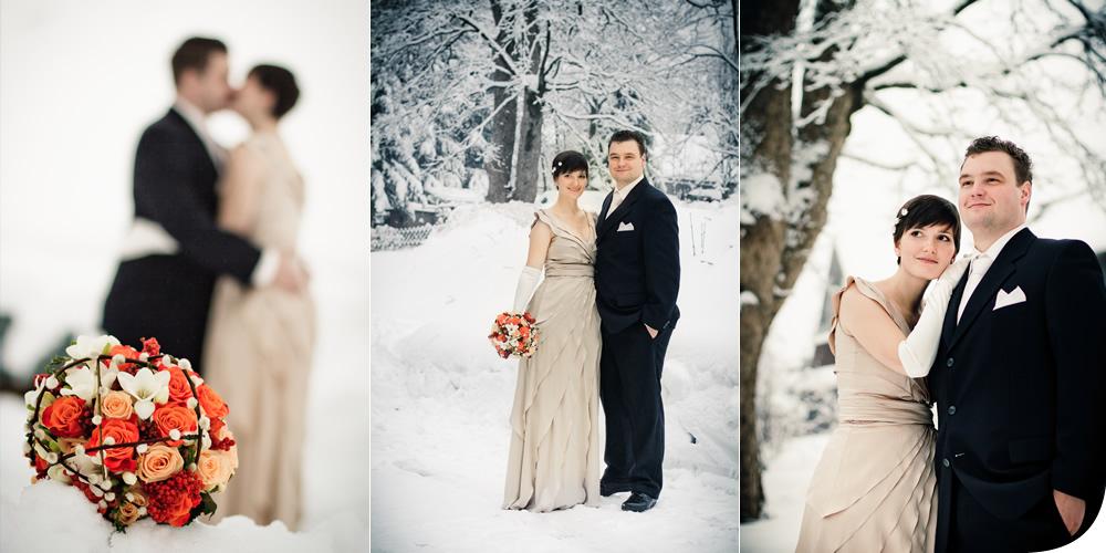 Hochzeit im verschneiten Schmiedefeld in Thüringen