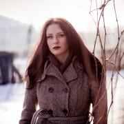 in der Nähe des erfurter Dreibrunnenbades entstand bei Schnee und gegen die Sonne fotografiert dieses Portrait