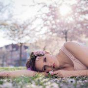 Portrait während der Kirschblüte