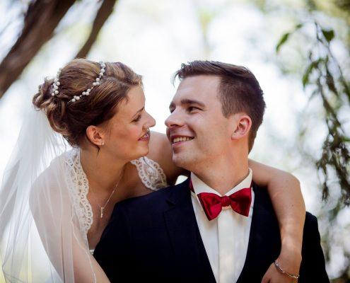 romantisches Hochzeitsbild im Auerworld Palast in Auerstedt