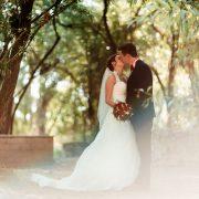 romantisches Hochzeitsbild im Auerworld Palast