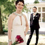 im Kurpark von Bad Liebenstein entstand dieses Brautpaarportrait