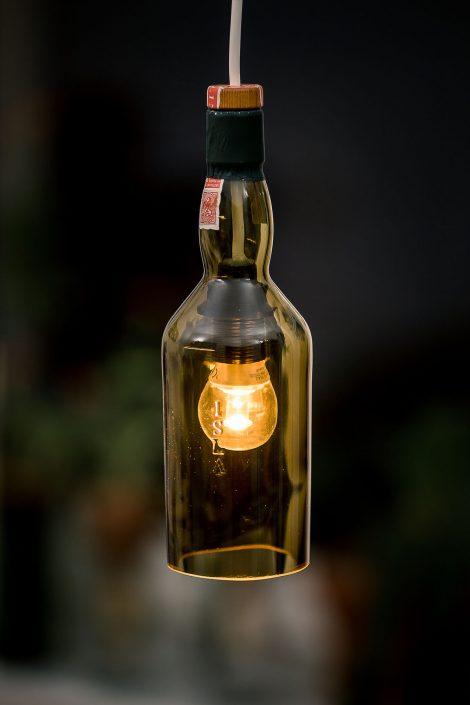 elektische Ambientelampe aus einer Flasche