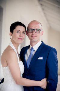 schönes klassisches Brautpaarportrait