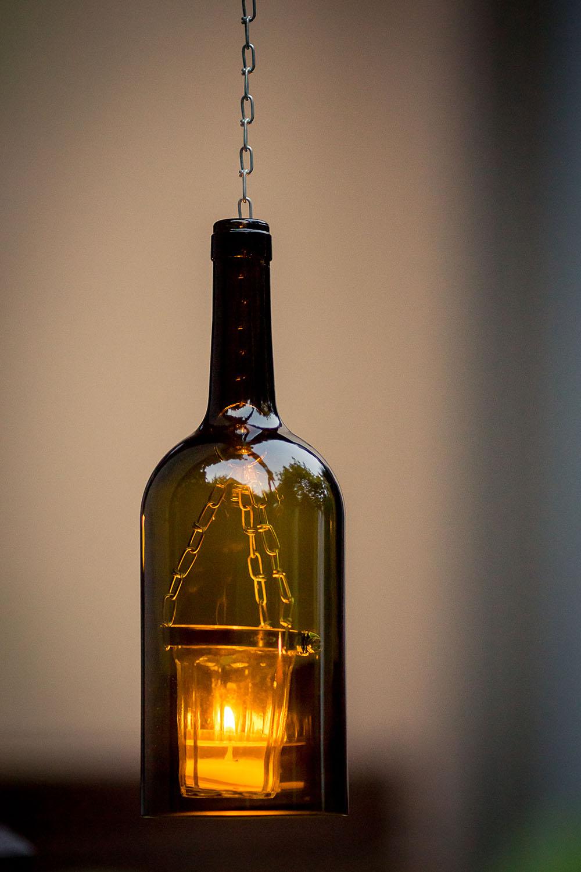 rustikale Teelicht Lampe aus einer Weinflasche - Fotograf in Erfurt ...