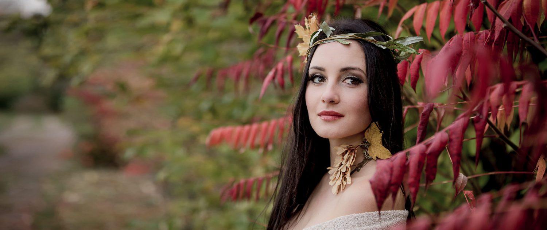 die tollen Farben des Herbstes in Verbindung mit einem wunderschönen Portrait entstanden am Stadtrand von Erfurt
