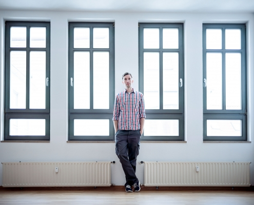lockeres Businessportrait in Erfurt