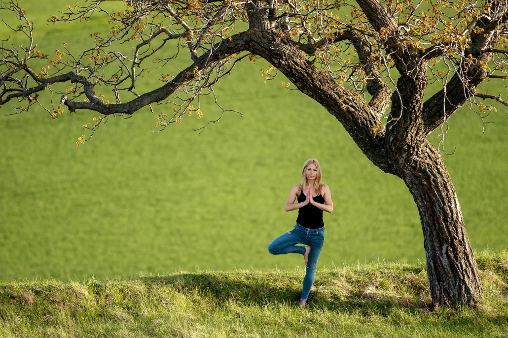 Yoga im 'Grünen' bei Erfurt