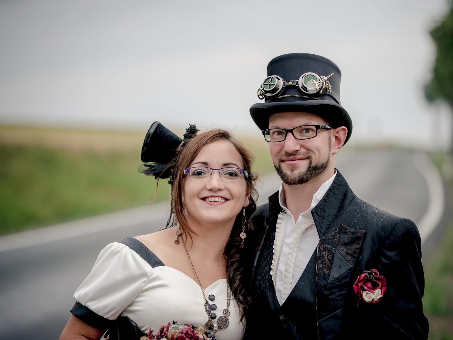 Hochzeitsportrait Steampunk After Wedding Shooting