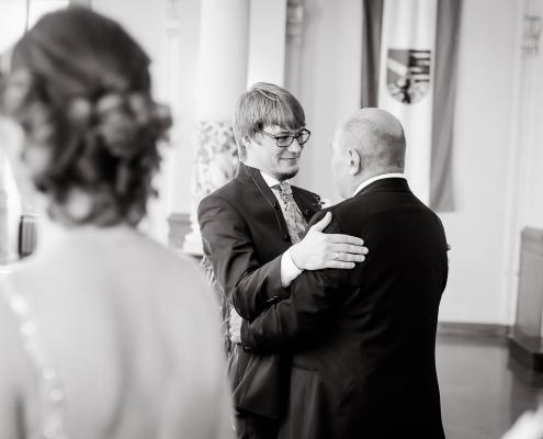 Gratulation dem frisch vermählten Paar