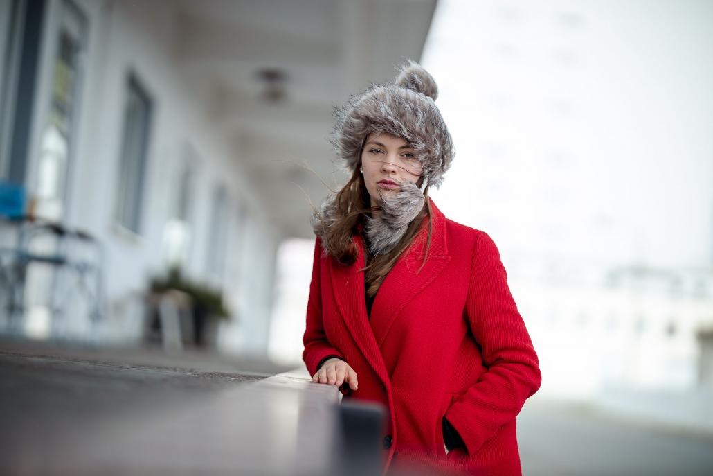 Lifestyle Fashion Portrait fotografiert mit Tageslicht in Erfurt