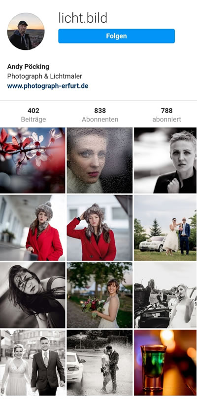 Timeline Instagram Andreas Pöcking Fotograf in Erfurt & Thüringen